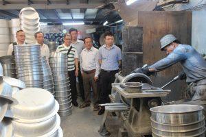 Đoàn công tác Hội doanh nhân VBAA ghé thăm công ty Nhôm Tân Hoàn Cầu tại Tp.HCM