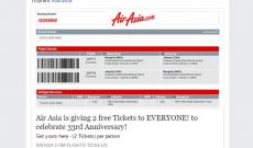 """Năm 2017 rồi, mê du lịch đến mấy cũng đừng mắc trò lừa share Facebook trúng """"2 vé máy bay miễn phí từ AirAsia"""" nữa"""