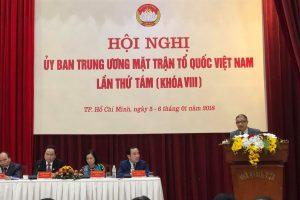 Thủ tướng dự Hội nghị UBTƯ MTTQ Việt Nam lần thứ 8