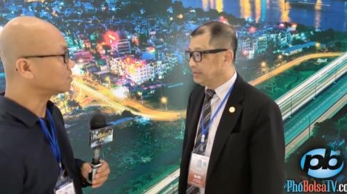 Ông Trần Bá Phúc trả lời phỏng vấn kênh truyền hình Việt tại Mỹ