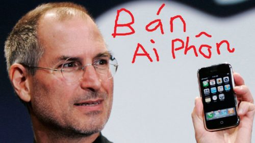 """Sắp tới cửa hàng bán điện thoại sẽ ghi """"ai phôn"""", điện thoại Steve Jobs trên biển quảng cáo?"""
