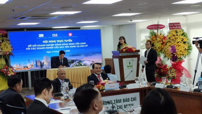 """Hội nghị trực tuyến """"Kết nối doanh nghiệp đồng bằng sông Cửu Long với các doanh nghiệp kiều bào tiềm năng tại Hoa Kỳ"""
