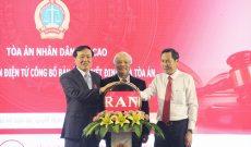 Khai trương Trang thông tin điện tử công bố bản án, quyết định của toà án