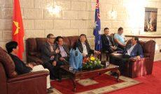 Chuyến ghé thăm dinh đại sứ Việt nam tại Úc nhân dịp Tết nguyên đán