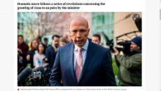 Úc: Cảnh sát liên bang khám xét Bộ Nội vụ về việc Bộ trưởng  cấp thị thực cho bảomẫu