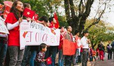 Tuần hành tại Australia phản đối Trung Quốc ngang ngược