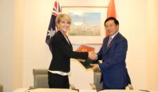 Bộ trưởng Ngoại giao Phạm Bình Minh hội đàm với Bộ trưởng Ngoại giao Australia Julie Bishop