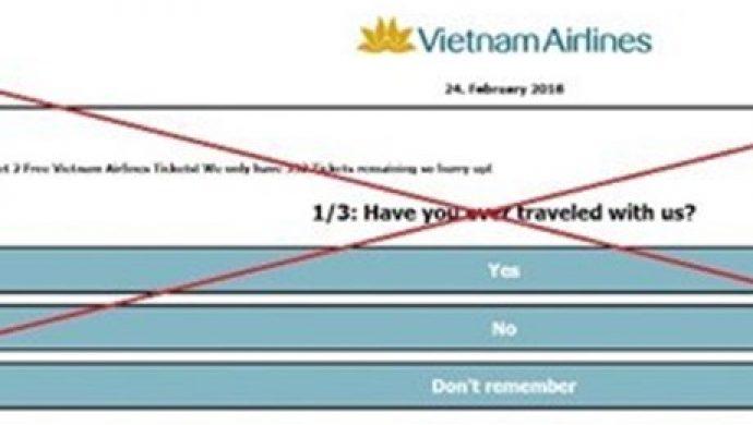 Cảnh báo mạo danh Vietnam Airlines bán vé giả chuyến bay về Việt Nam